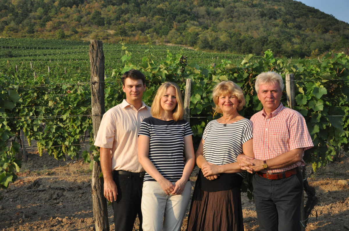 Family members of Béres Wine Estate and Winery